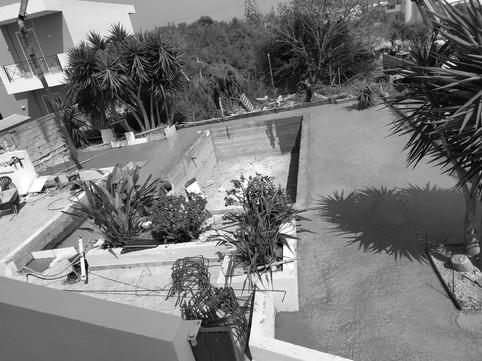 Pool Construction Apartment Complex Kato Gouves Crete
