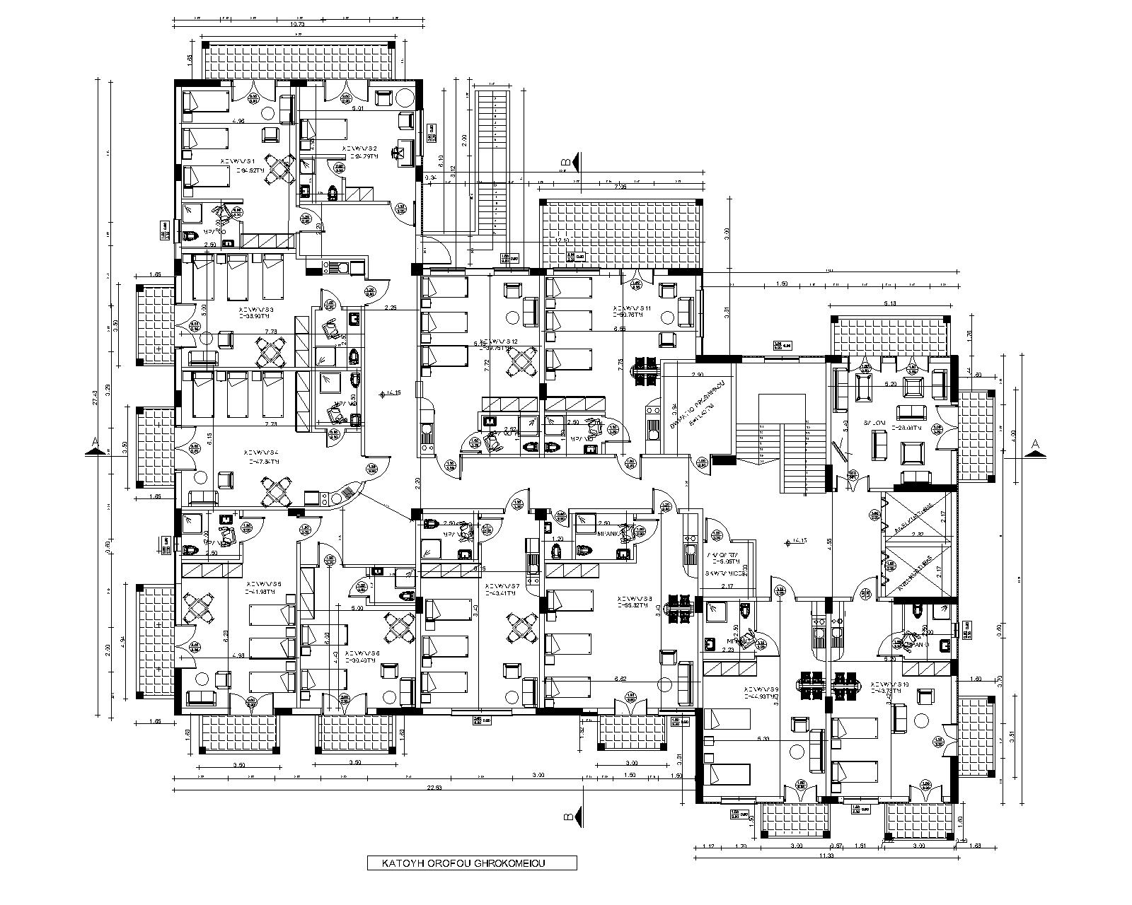 Plan 1st floor Retirement home