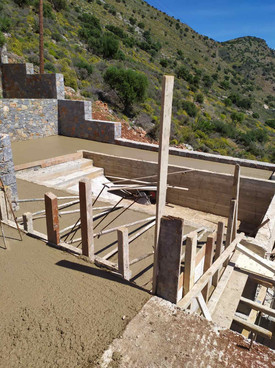 Pool Construction Luxury Villa Havgas Elounda Crete