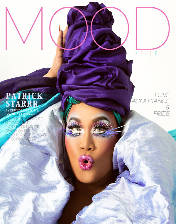 Makeup Guru, Influencer, and beauty blogger Patrick Starr photographed for MOOD Magazine by Anthony Giovanni and Edwin J Ortega