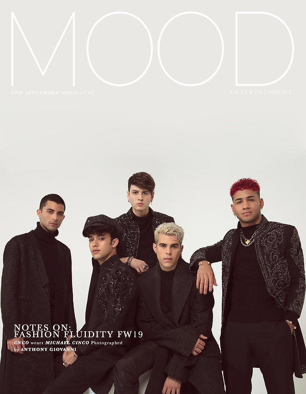 International Latin Boy band and musical group CNCO photographed and interviewed for MOOD Magazine. Photos by Edwin J Ortega and Anthony Giovanni
