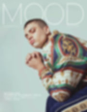Moschino and Jeremy Scott runway model from L&G Management, Brandon Good, photographed for MOOD Magazine. Photos by Edwin J Ortega and Anthony Giovanni