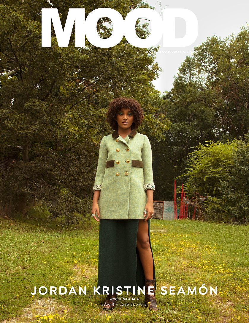 Jordan Kristine Seamón interviewed for MOOD Magazine FW20 issue, Love Above All . Photographed by Anthony Giovanni, fashion by Edwin J Ortega.