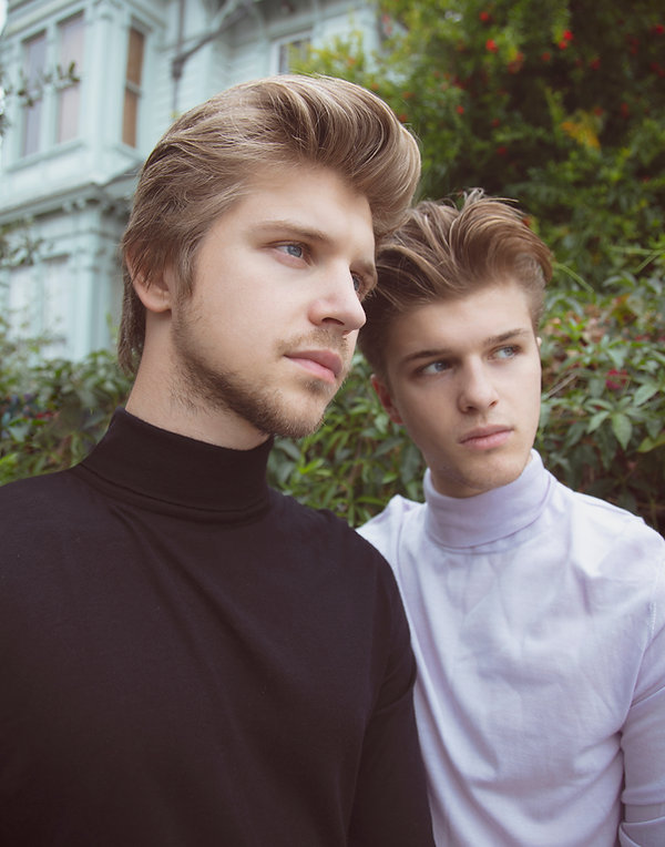 Brothers Alex Lange and Matthew Lange photographed for MOOD Magazine. Photos by Edwin J Ortega