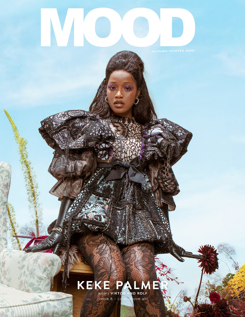 Keke Palmer interviewed for MOOD Magazine FW20 issue, Love Above All . Photographed by Anthony Giovanni, fashion by Edwin J Ortega.