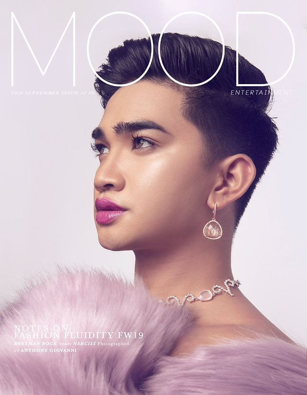 Influencer, beauty guru, da baddest, business owner, Bretman Rock interviewed and photographed for MOOD Magazine. Photos by Anthony Giovanni