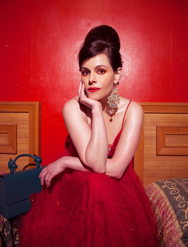 Emily Hampshire covers MOOD Magazine Photography by Anthony giovanni style by Edwin J. Ortega