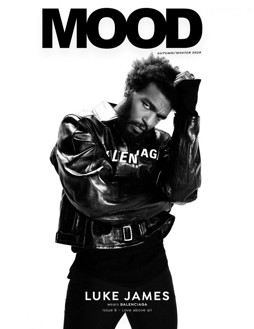 Luke James interviewed for MOOD Magazine FW20 issue, Love Above All . Photographed by Anthony Giovanni, fashion by Edwin J Ortega.
