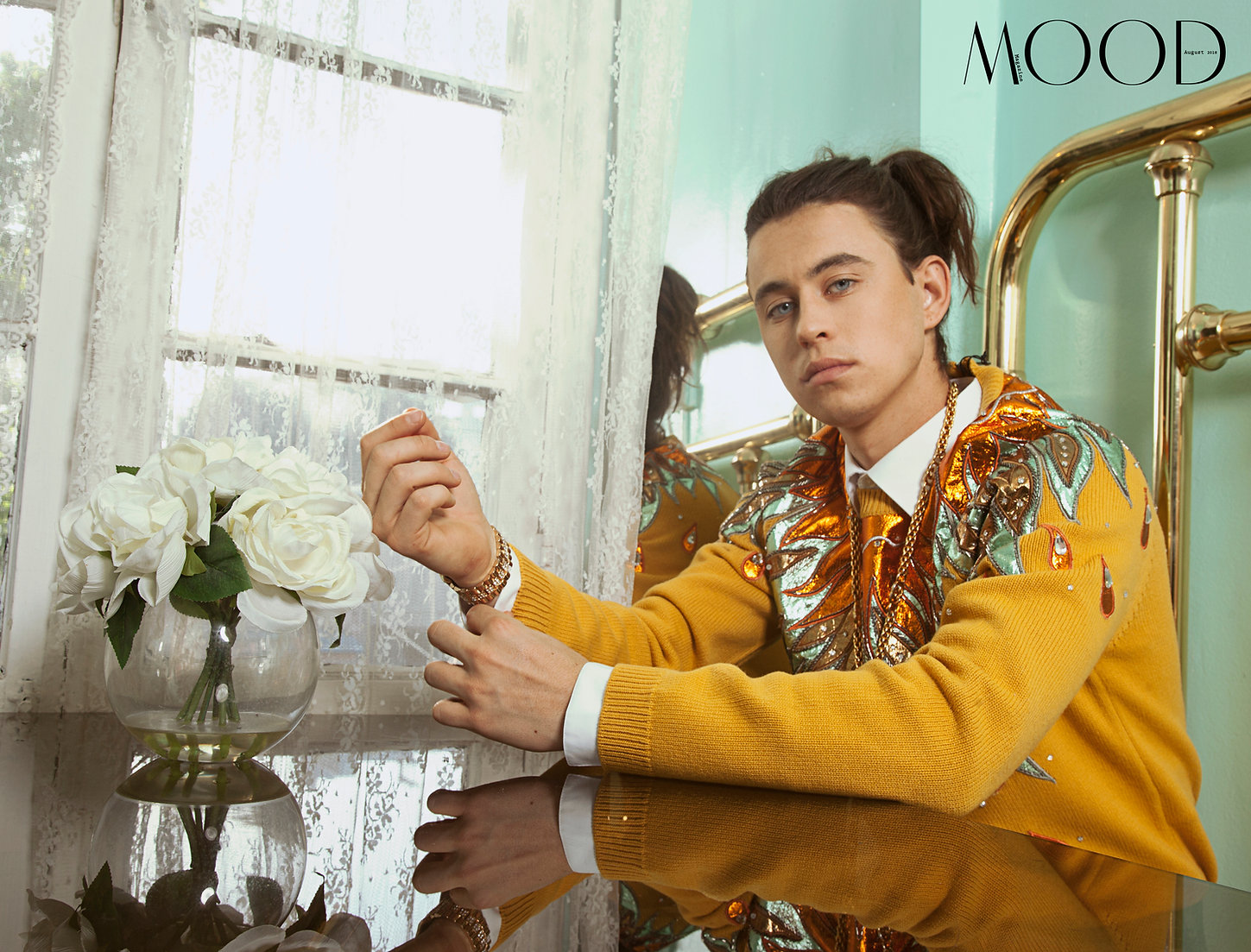 MOOD magazine sits down with internet superstar Nash Grier for the may cover in collaboration with Gucci  Creative director  photographer edwin ortega