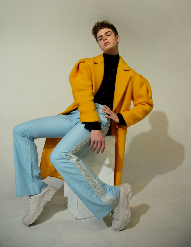 Blake Gray from Next models is Photograph by Edwin J Ortega and Anthony Giovanni for MOOD Magazine.