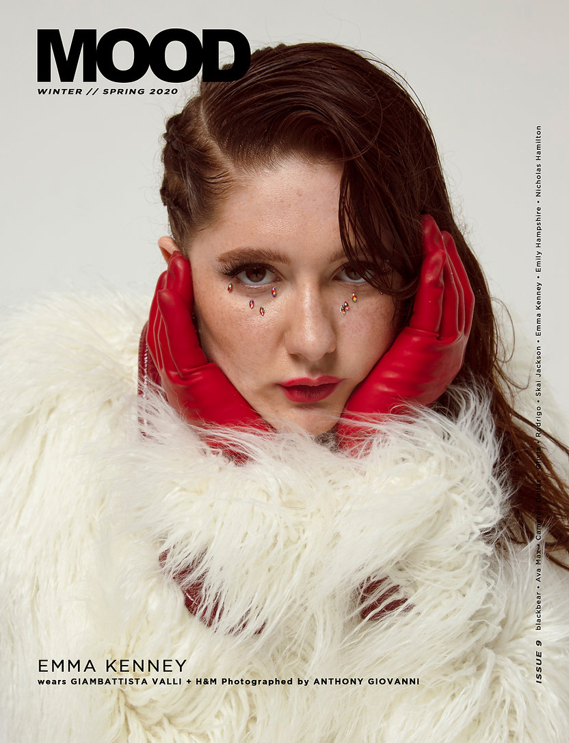 emma kenney for MOOD Magazine winter / spring 2020. Photograph by Anthony Giovanni and style by Edwin J. Ortega
