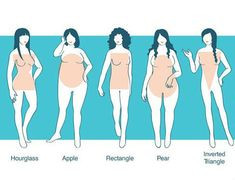 Hour Glass, Apple, Rectangle, Pear, Inverted Triangle