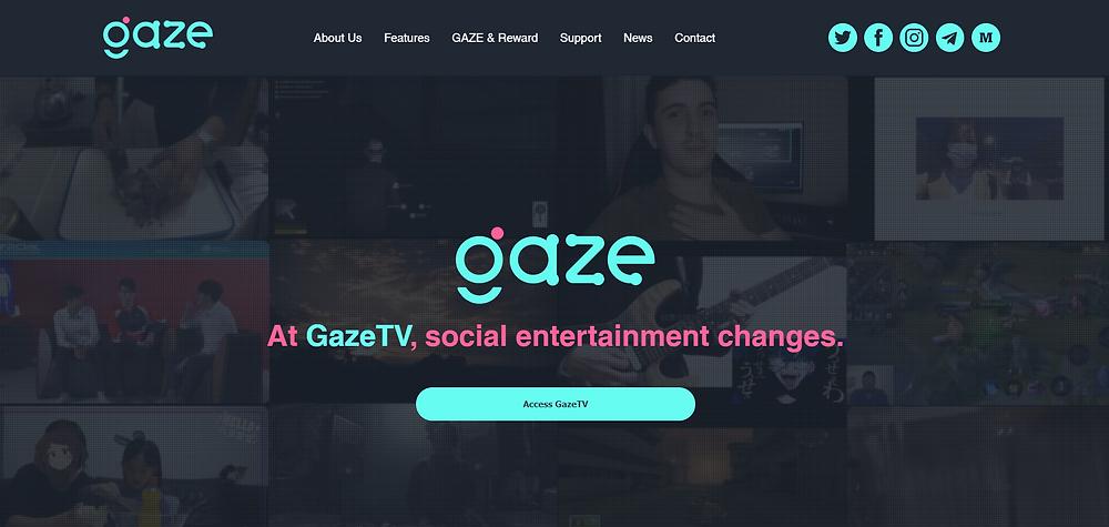 GazeTV official corporate website is live.