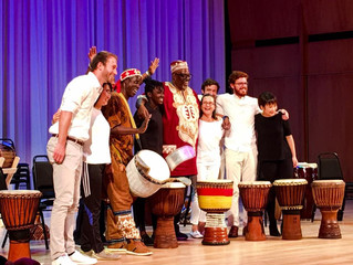 A one week residency and performance with Bolokada Conde at Duke University,  November 2018.