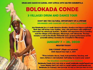 Travel to Guinea, West Africa with Bolokada Conde!