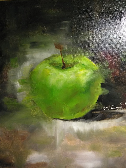 Abstract Green Apple