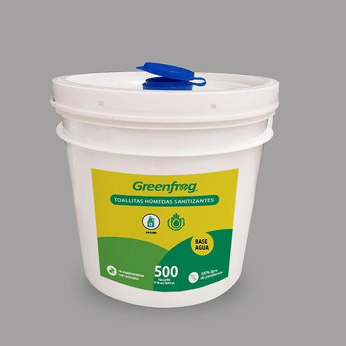 Toallitas Húmedas Desinfectantes Sanitizantes Base Agua 500 pz