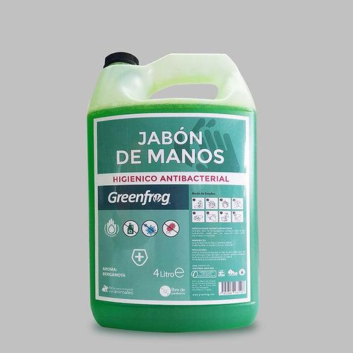 Jabón de manos Higiénico Antibacterial Bergamota 4L
