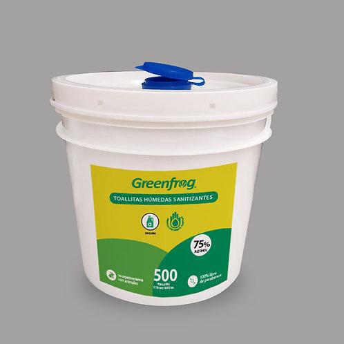 Toallitas Húmedas Desinfectantes Sanitizantes con Alcohol 500 pz