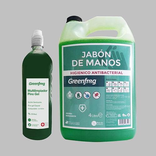 Pino Gel & Jabón de manos Antibacterial Bergamota
