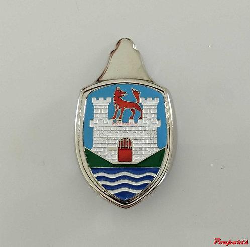 Emblema Brasão  Capo Fusca  Castelo Wolfsburg azul