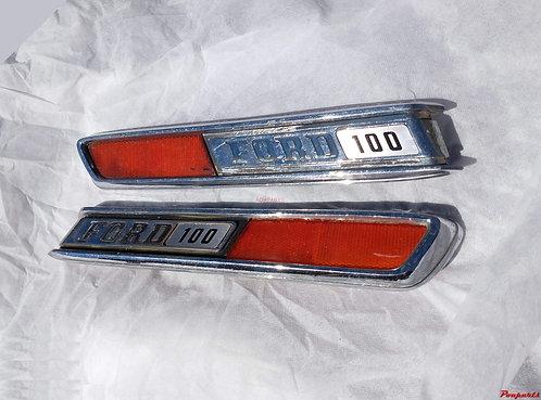 Par Emblema Capô Ford F100 72 - 86