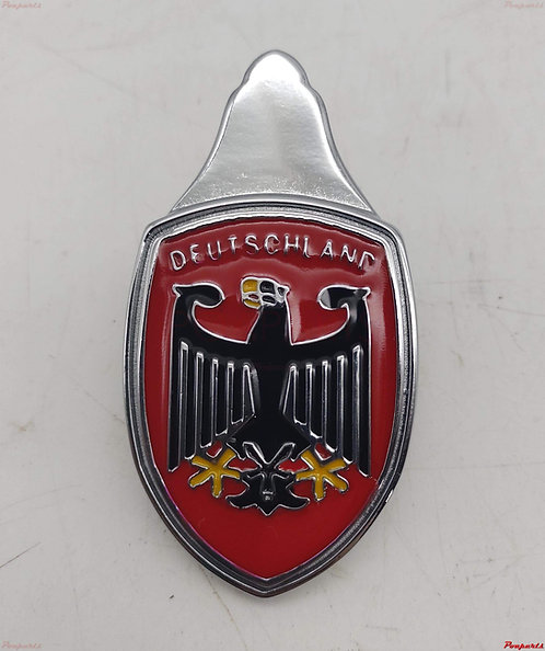 Emblema Brasão Capo Fusca Deutschland Vermelho Águia