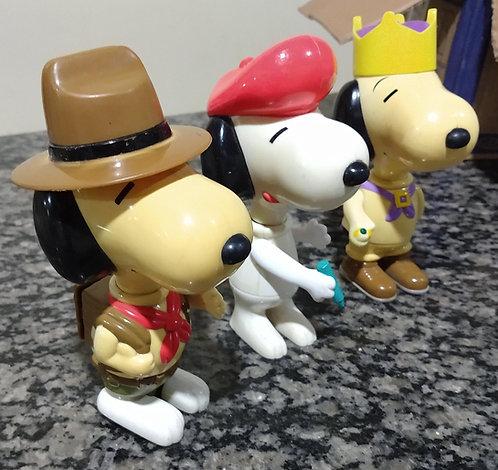 Boneco Snoopy kit 3 unidades