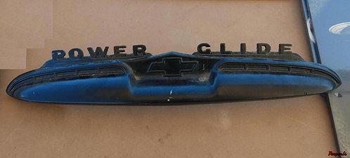Emblema Moldura Tampa Traseira Powerglide Chevrolet 50 51