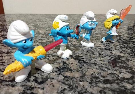Boneco Smurfs 4 pçs