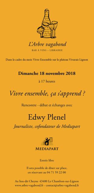 Edwy Plenel - L'Av - 18 11 2018