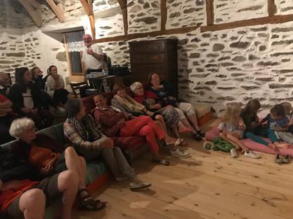 Soirée astronomie au moulin de Recharinges chez Patricia et Bernard