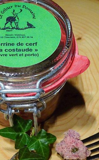 Terrine de cerf poivre vert et porto 180 g