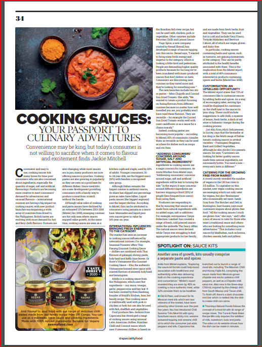 RoniB's Kitchen Adobo Sauce in Cooking Sauces: Your Passport to Culinary Adventures by Specfiality Fine Food Magazine
