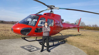 Congratulations to Toby on completing his AS350 type rating