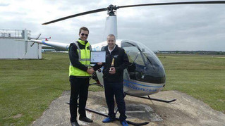 Congratulations to Nigel on passing his PPL(H)