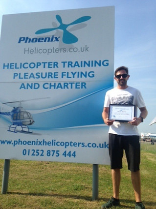 Congratulations to Miles on completing his R44 Type Rating