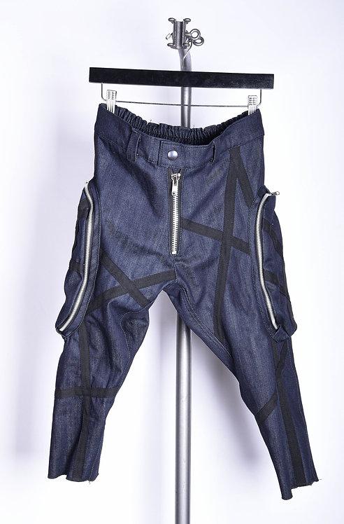 Bakama Pants Slim Indigo Strap
