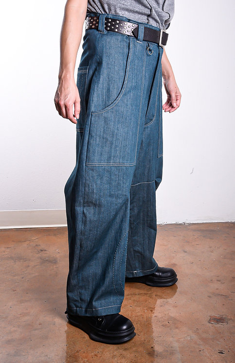 Shinjin Pants Steel Blue