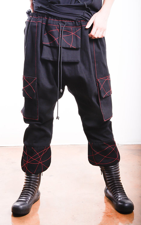 Shogun Pants Black/Red (W)