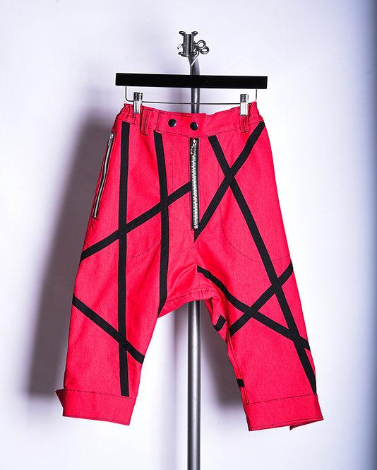 Raiju Red Strap Pants