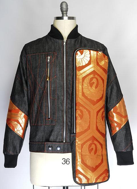 Osaka Obi Jacket Orenji Kuren