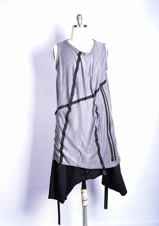 Ribbon Shirt Gray