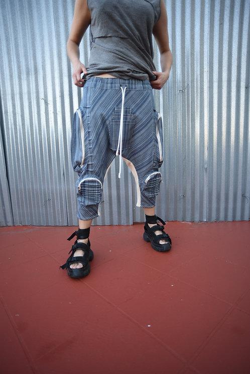 Horigen Slim Pants Indigo Stripe (W)