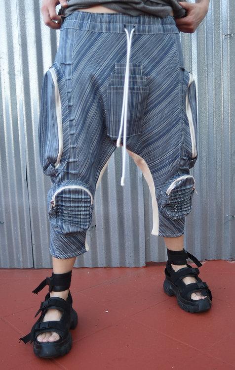 Horigen Slim Pants Indigo Stripe
