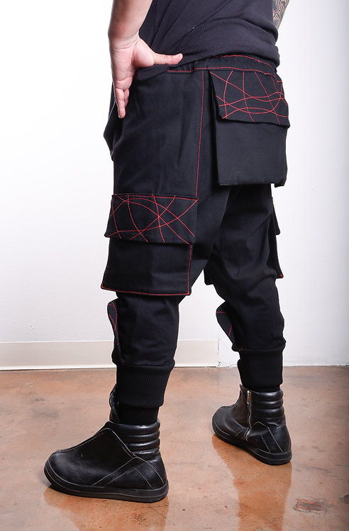 Shogun Pants, black/red Last One