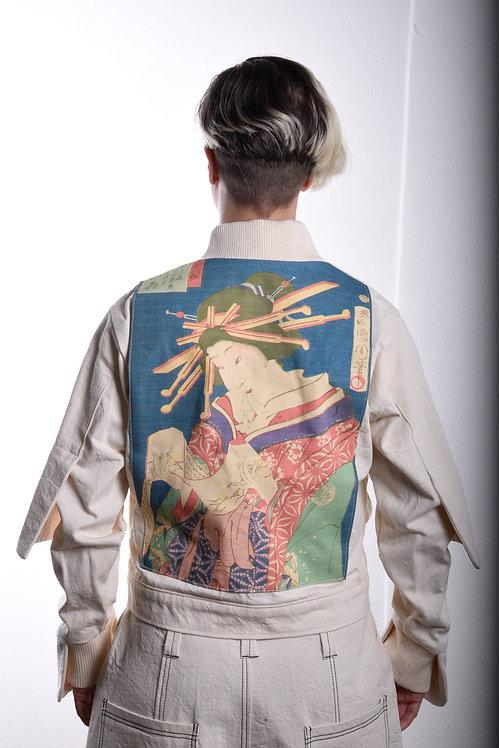 Tebori Courtesan Izuki Ukiyo-e Jacket (White)