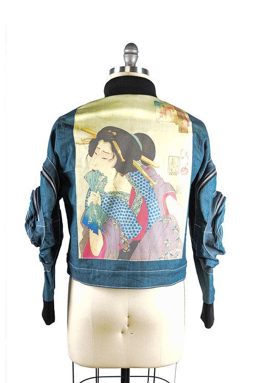 Shogun Onna Jacket Ukiyo art