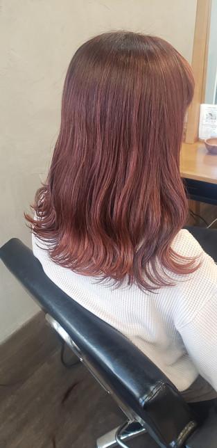 高発色カラー オレンジ×レッド