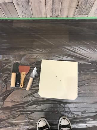 漆喰塗ってみました。